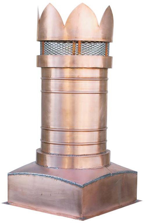 Edinburgh Copper chimney Pot
