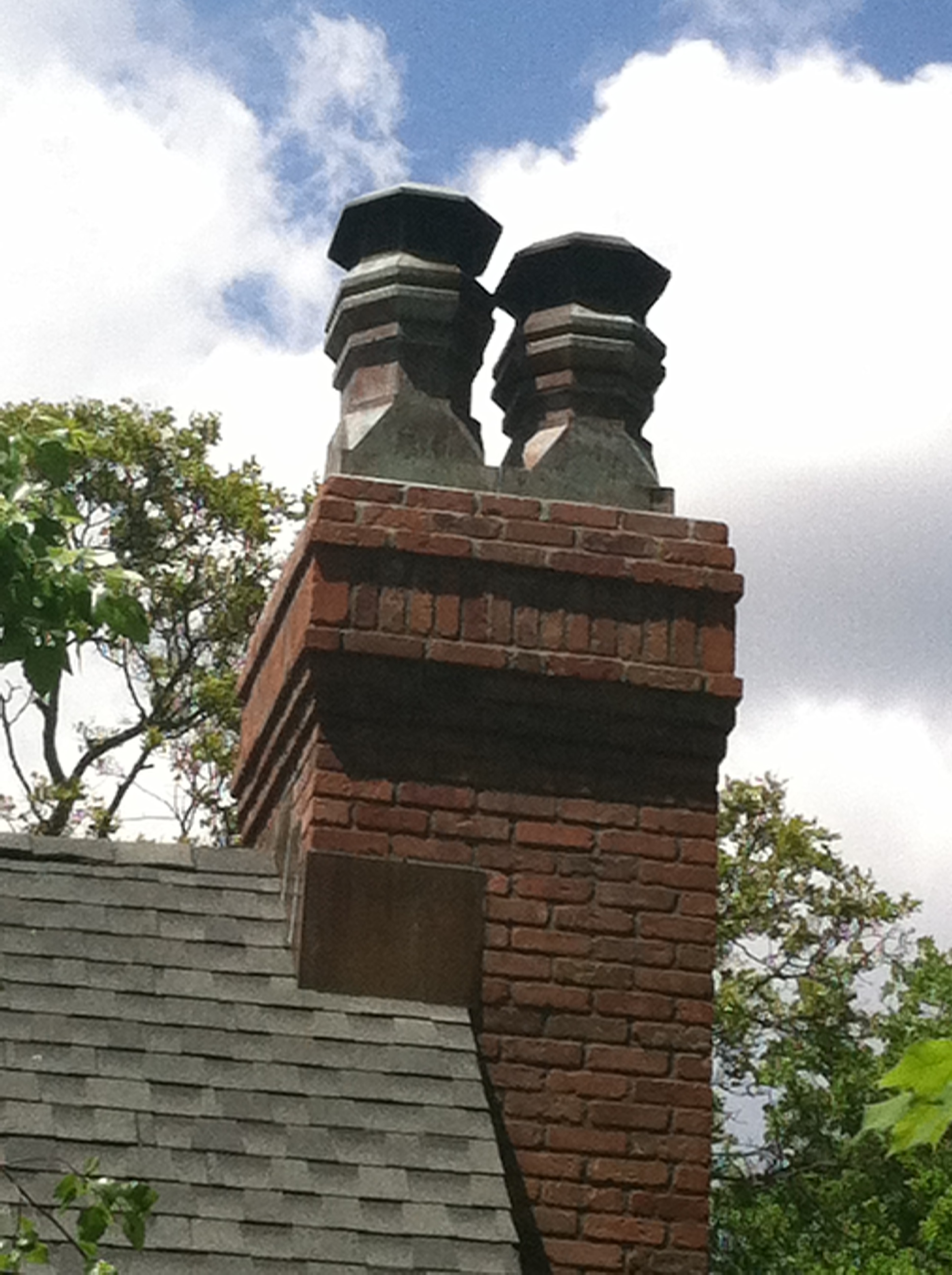 Patina Copper chimney Pot